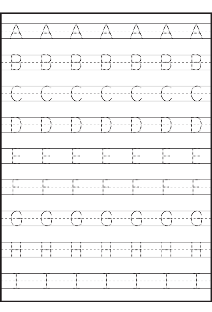 Traceable Letter Worksheets To Print | Alphabet Tracing