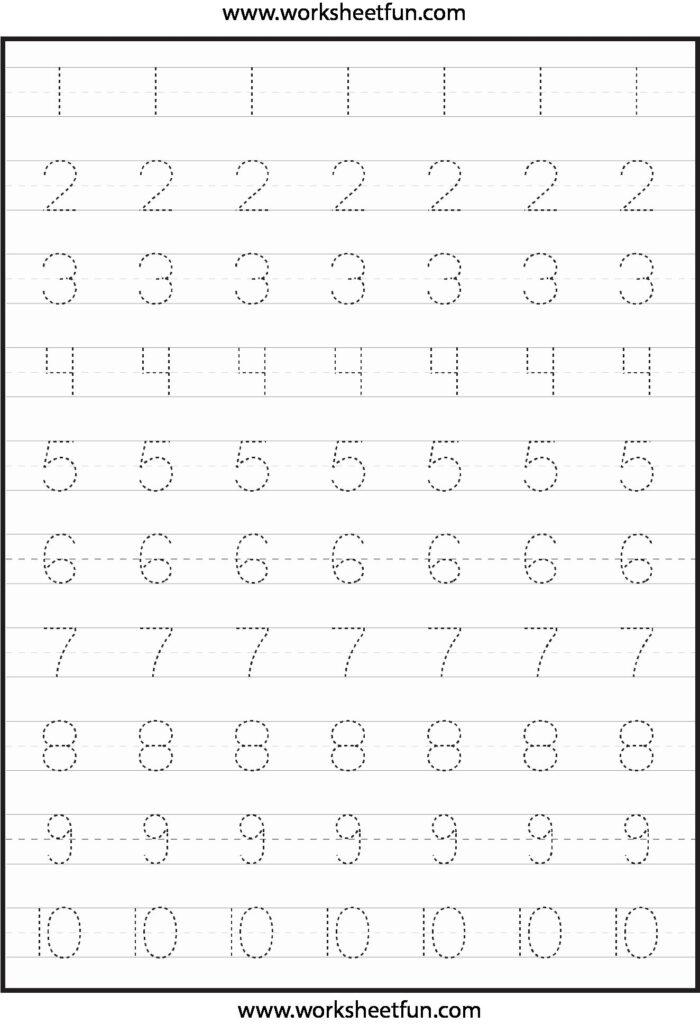 Traceable Numbers In 2020 | Tracing Worksheets Preschool