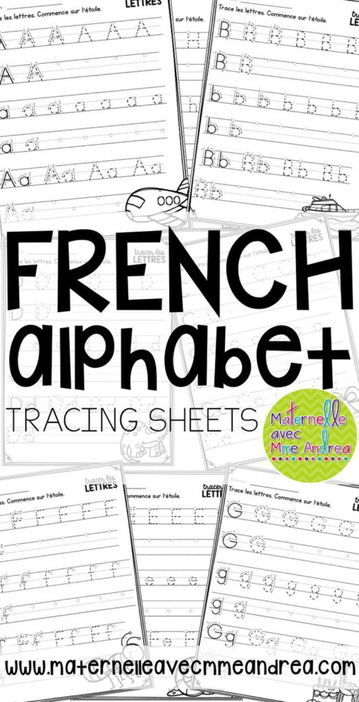 Tracer Les Lettres   French Alphabet Tracing Practice With Alphabet Worksheets In French