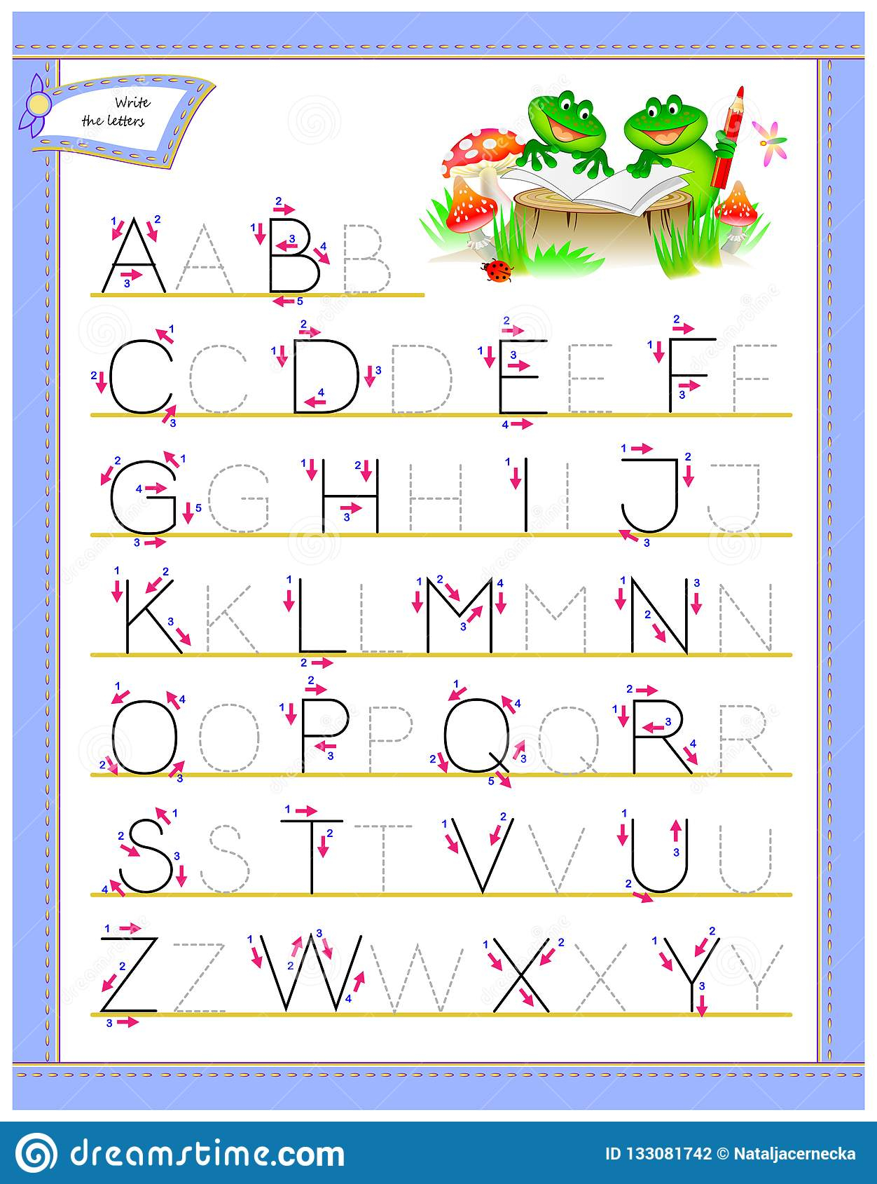 Tracing Abc Letters For Study English Alphabet. Worksheet for Abc Tracing Kindergarten