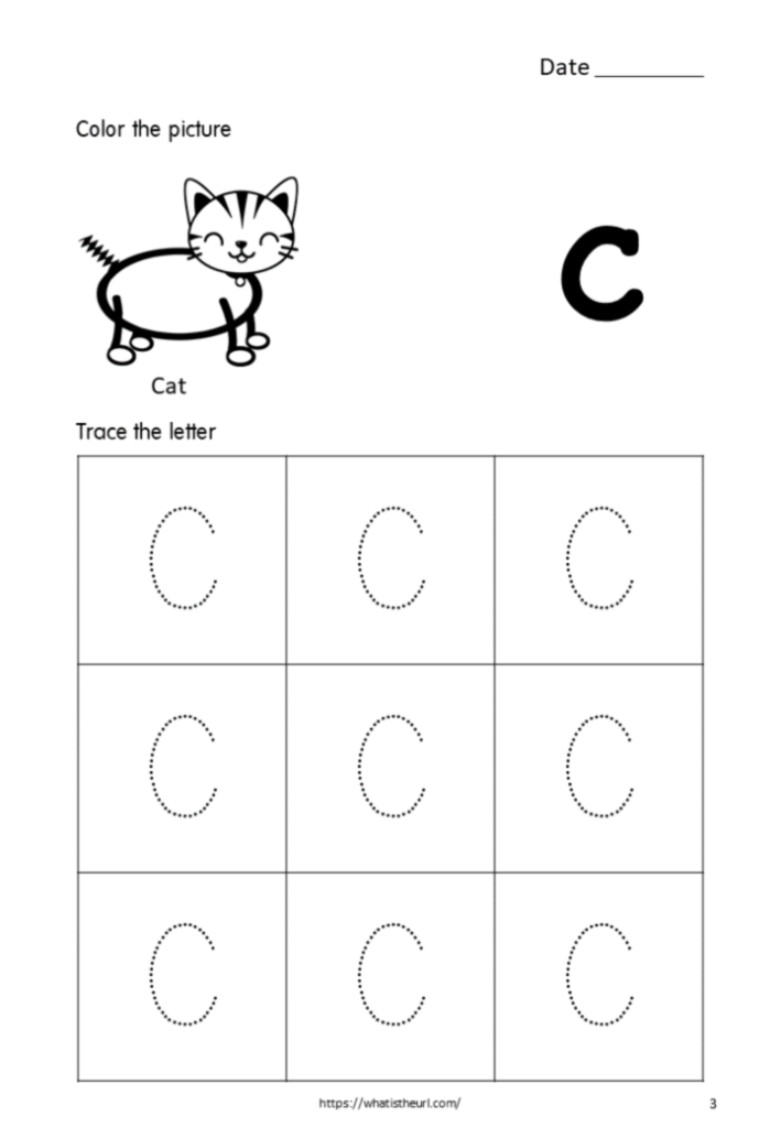 Tracing Alphabet Capital Letter C For Kids   Your Home Teacher Within C Letter Tracing