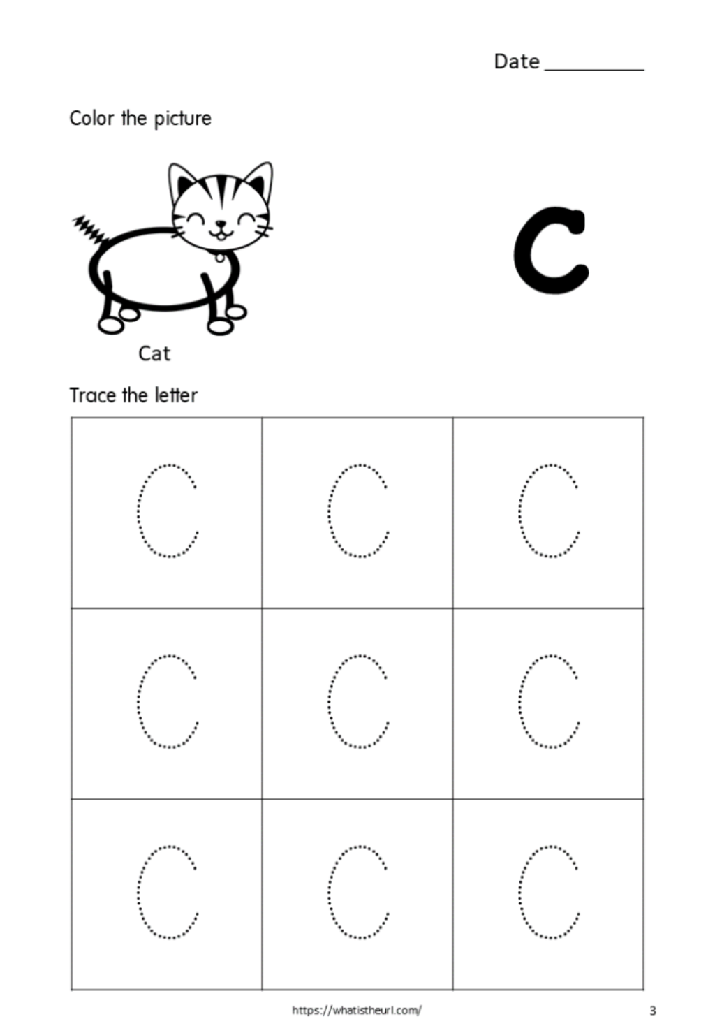 Tracing-Alphabet-Capital-Letter-C-For-Kids - Your Home Teacher within C Letter Tracing