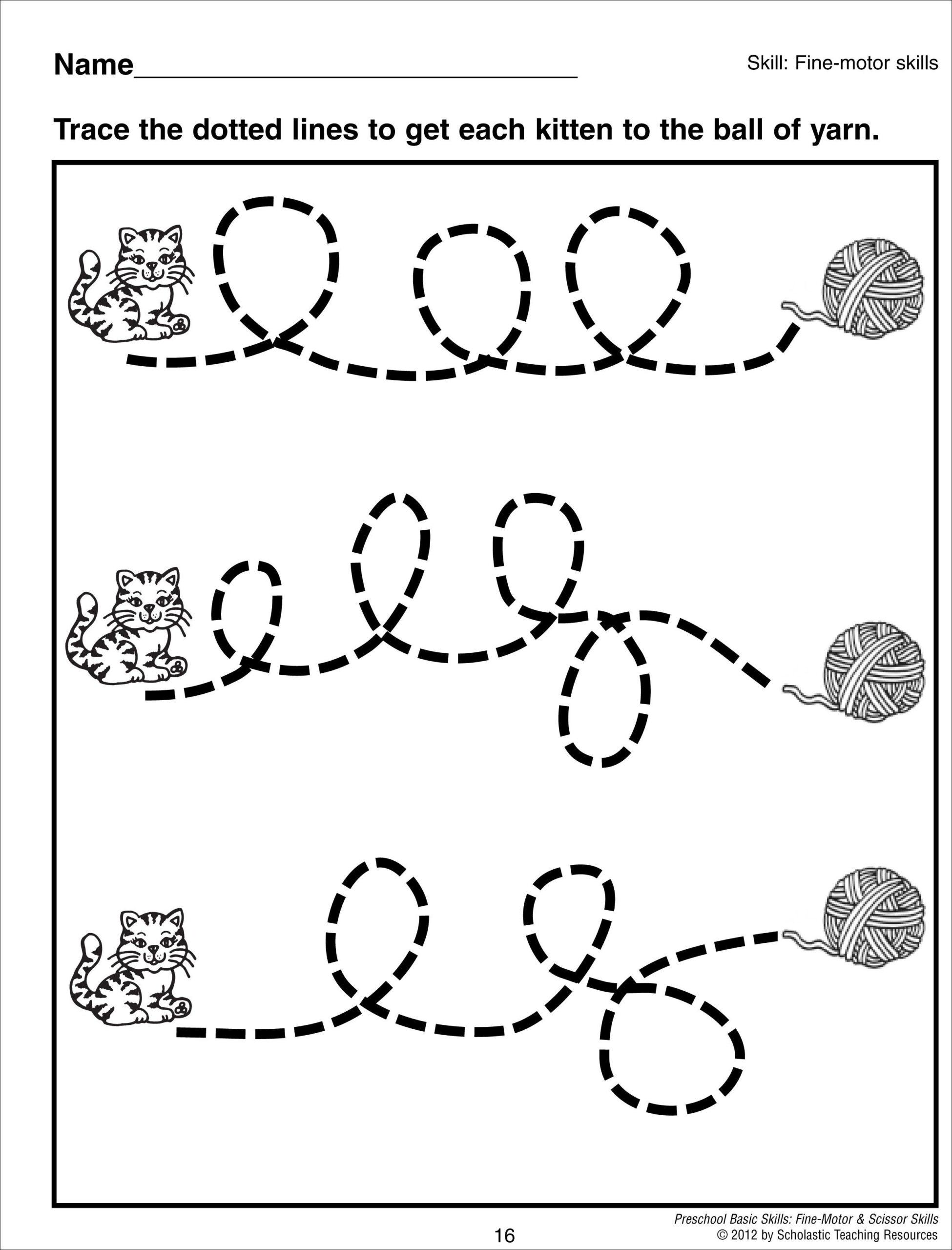 Tracing Curvy Lines Preschool Basic Skills Fine Motor Early