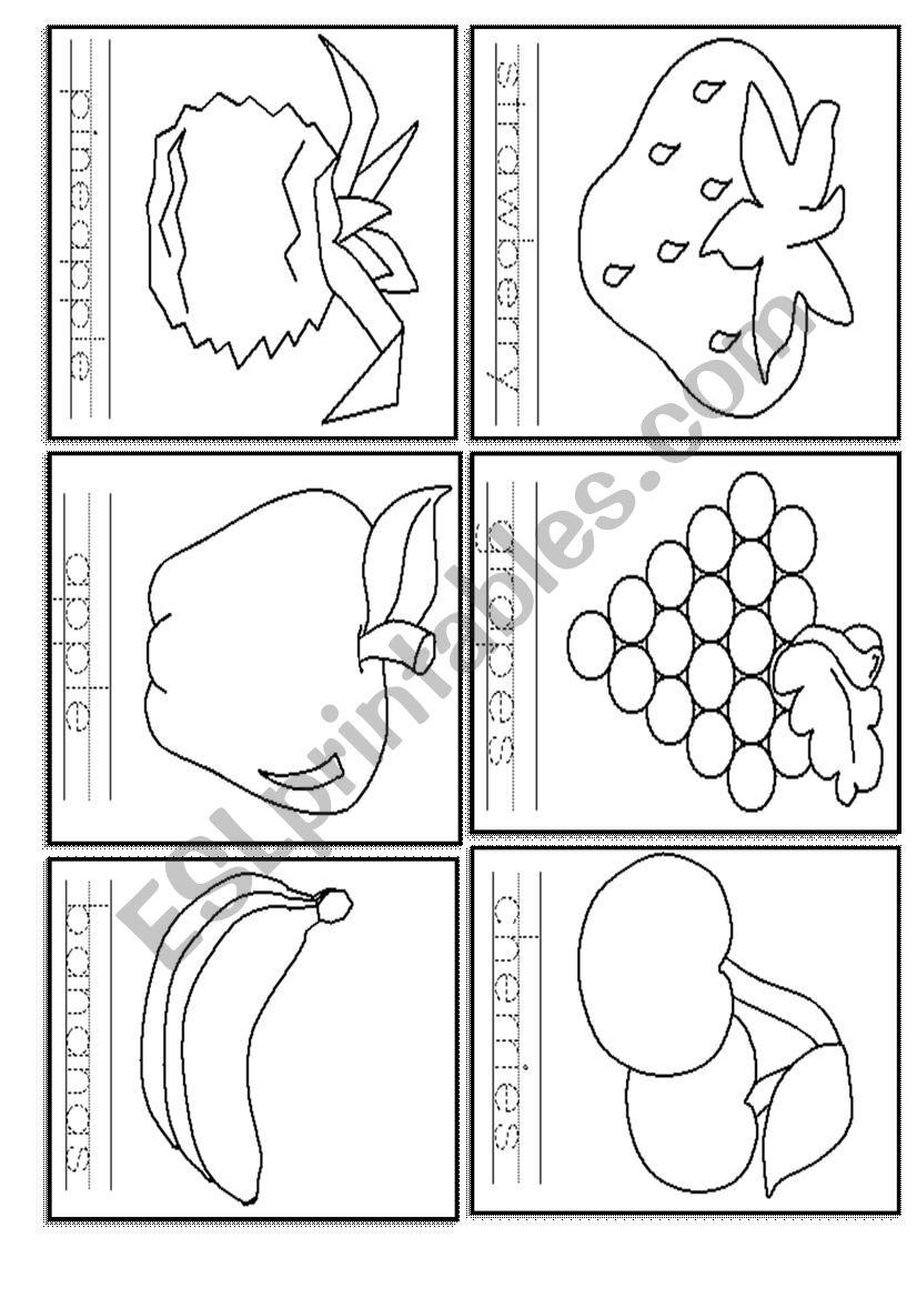 Tracing Fruit - Esl Worksheetlovelyamo