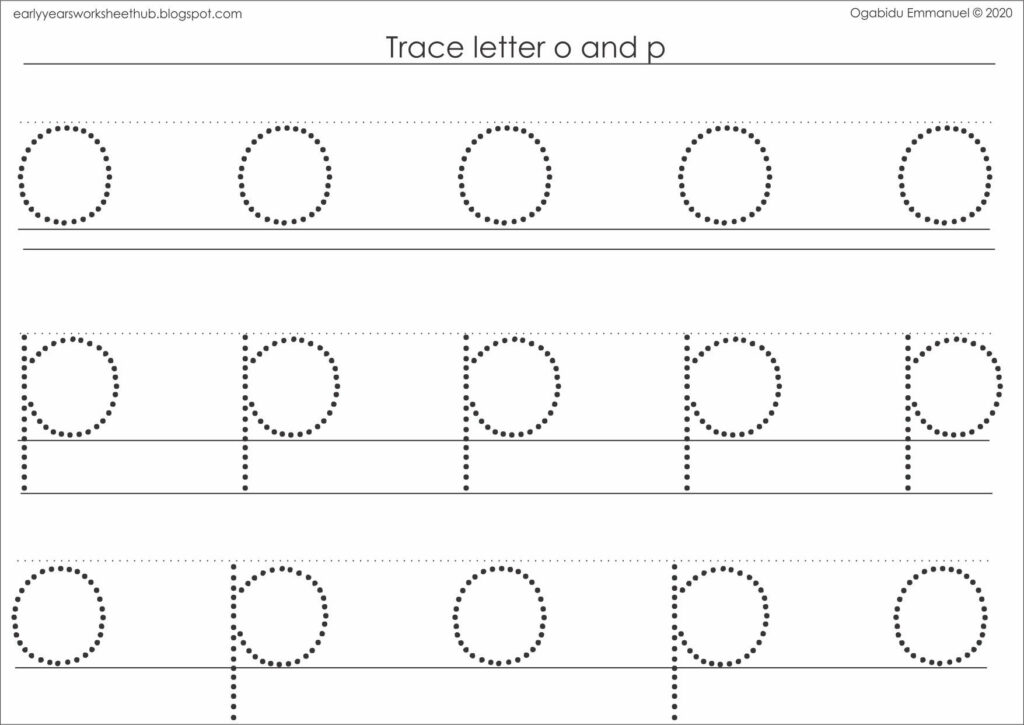 Tracing Letter O And P In 2020 | Kids Activity Books Pertaining To Letter Tracing Interactive