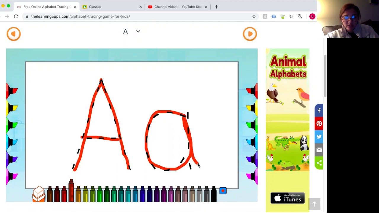 Tracing Letters - Youtube intended for Letter Tracing Youtube