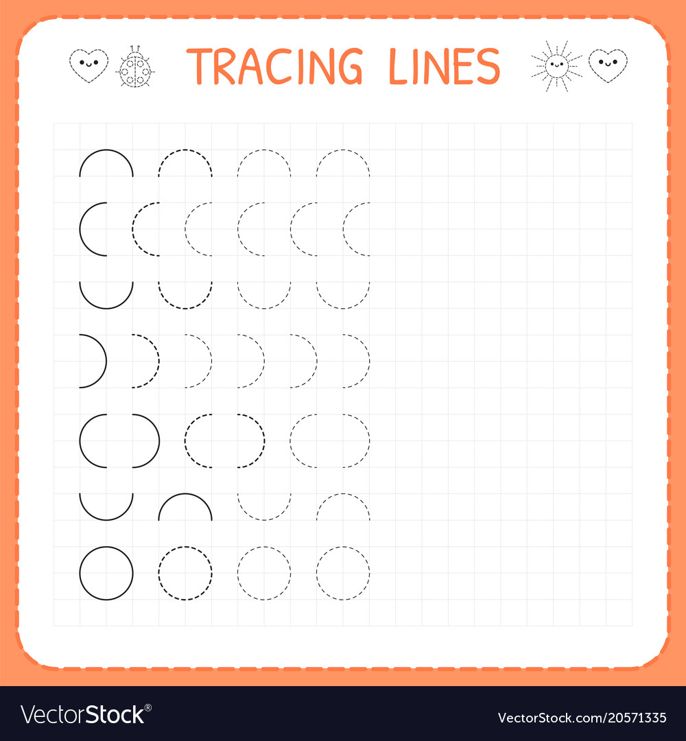 Tracing Lines Worksheet For Kids Basic Writing