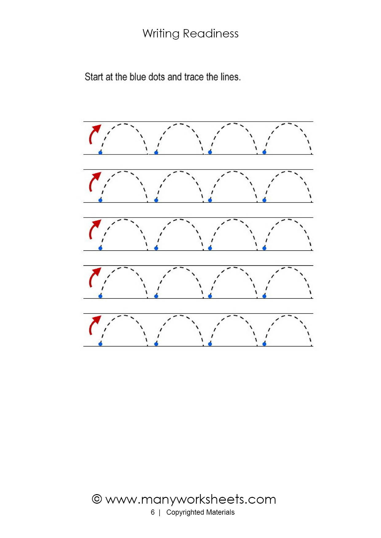 Tracing Lines Worksheets For Toddlers