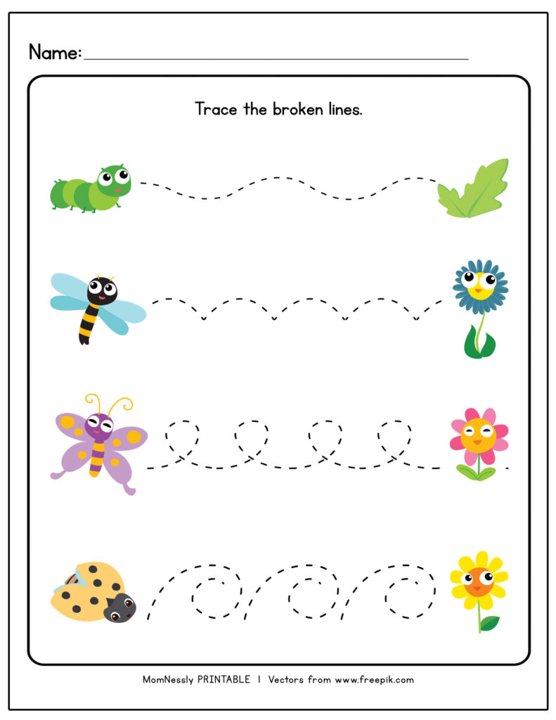 Tracing Lines Worksheets Https Tribobot For Toddlers Curved