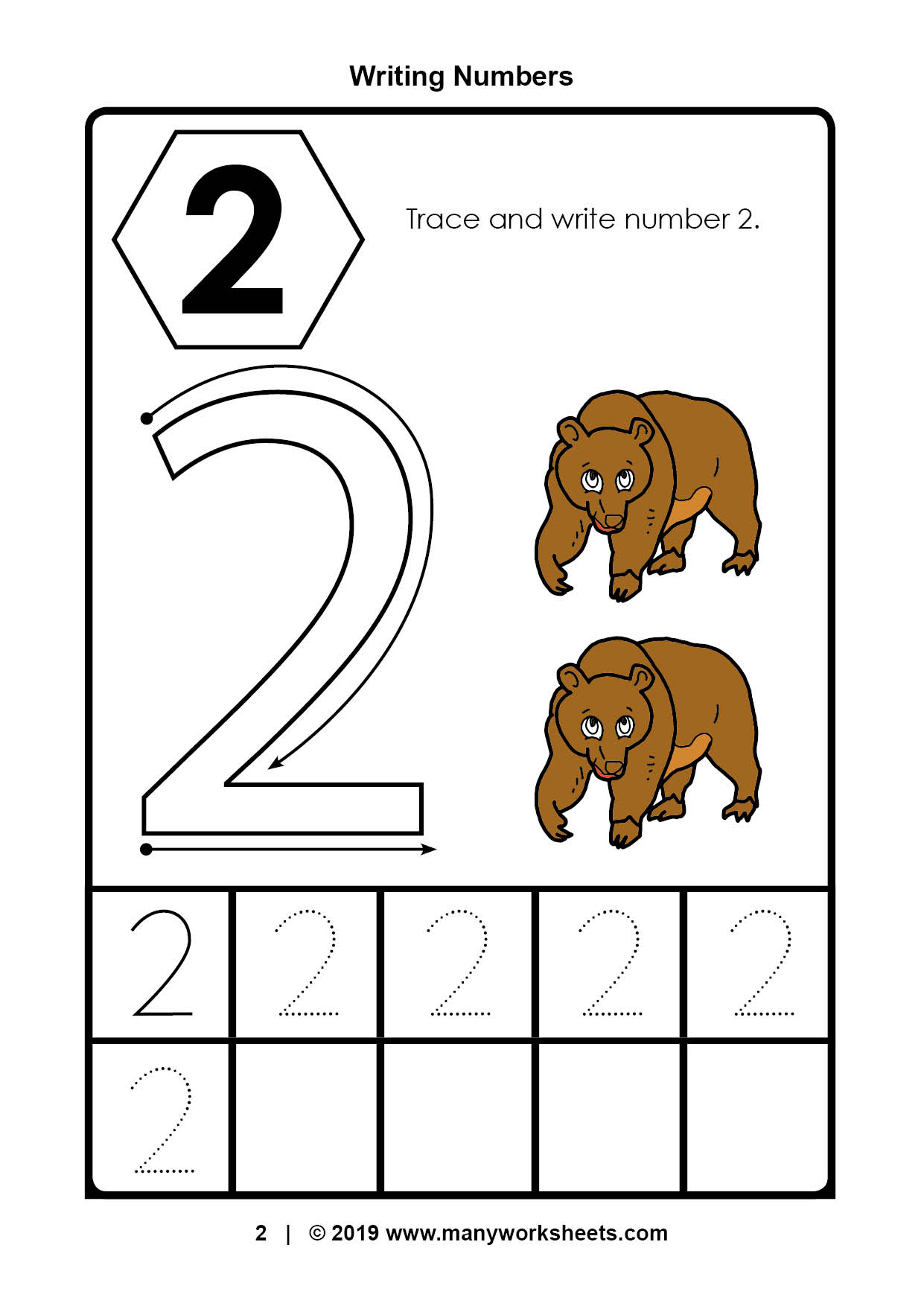 Tracing Number Worksheets For Kindergarten Preschool Ratio