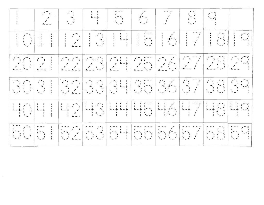 Tracing Numbers 1 100 Worksheets   Printable Worksheets And