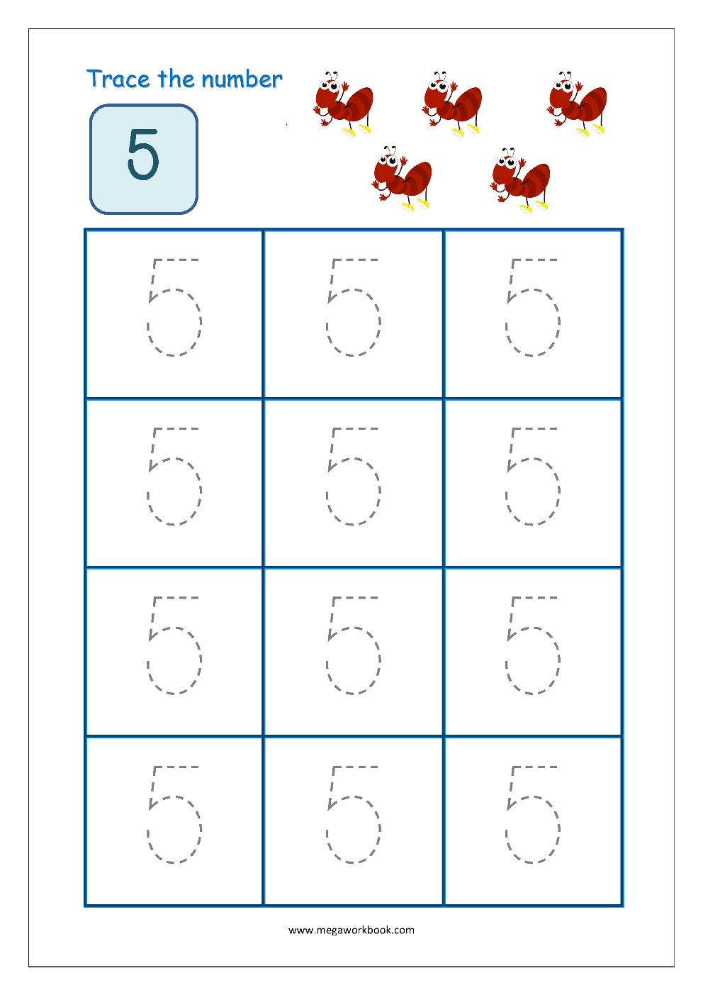 Tracing Numbers 1 To 10 Tracing Number 1 Tracing Numbers with Letter 5 Tracing