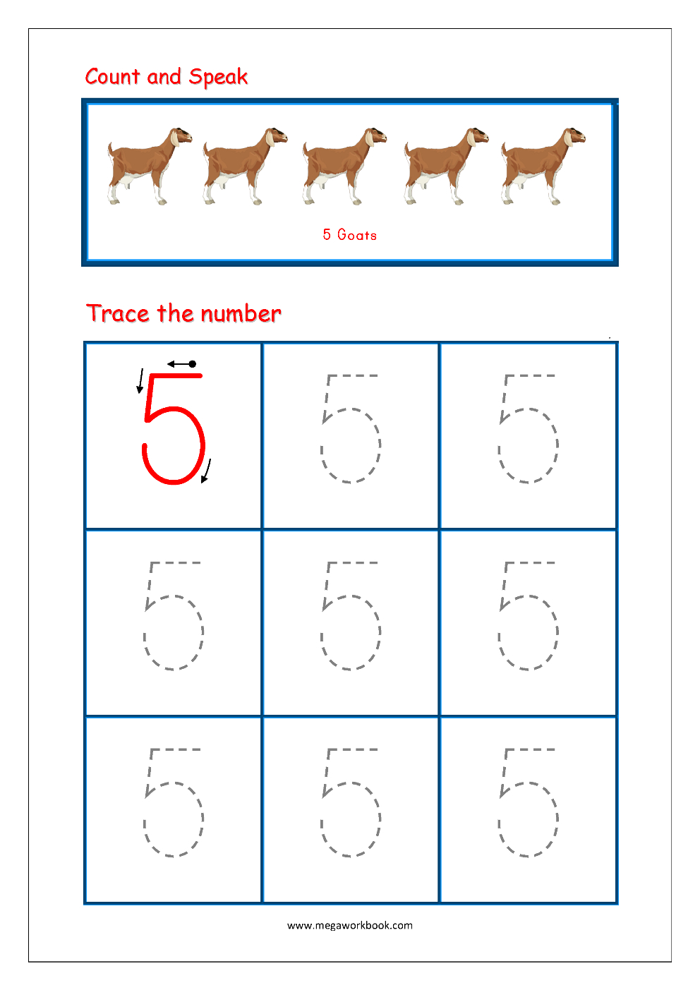 Tracing Numbers 1 To 10 Tracing Number 1 Tracing Numbers with regard to Letter 5 Tracing