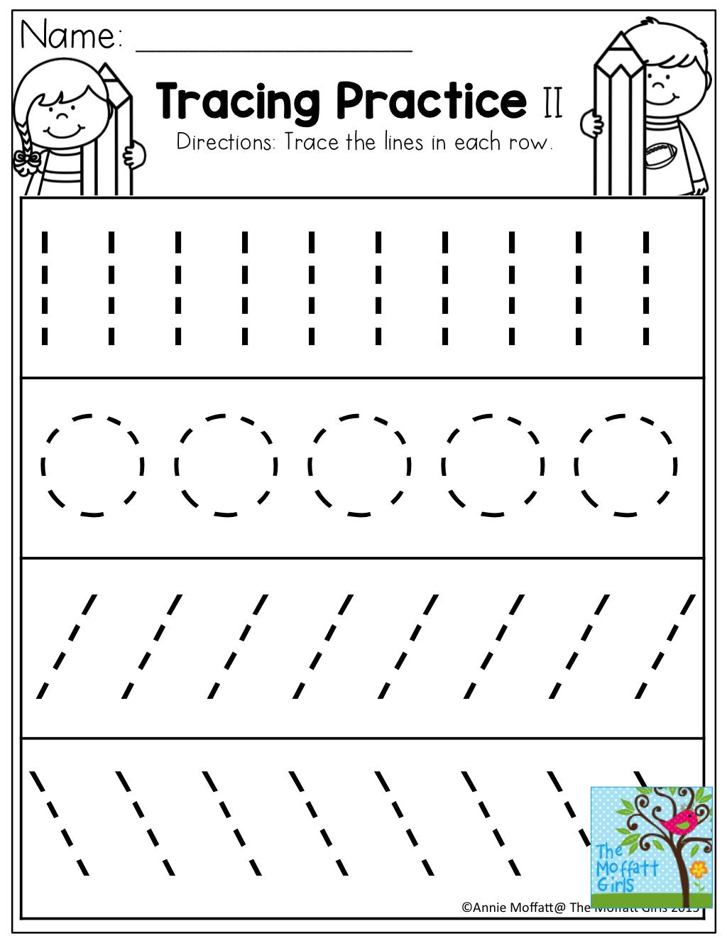 Tracing Practice! Tons Of Printable For Pre-K, Kindergarten