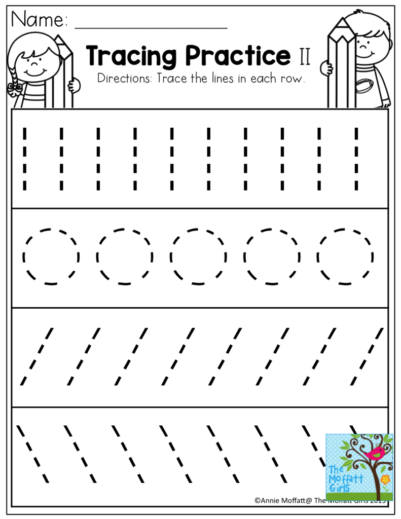 Tracing Practice! Tons Of Printable For Pre K, Kindergarten Within Name Tracing Practice With Red And Blue Lines