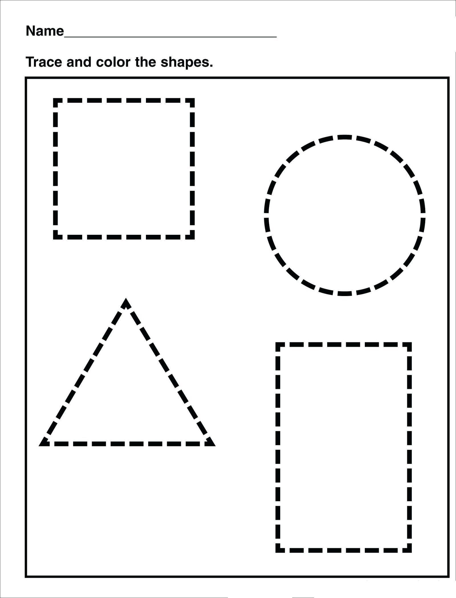 Tracing   Shape Tracing   Preschool / Free Printable