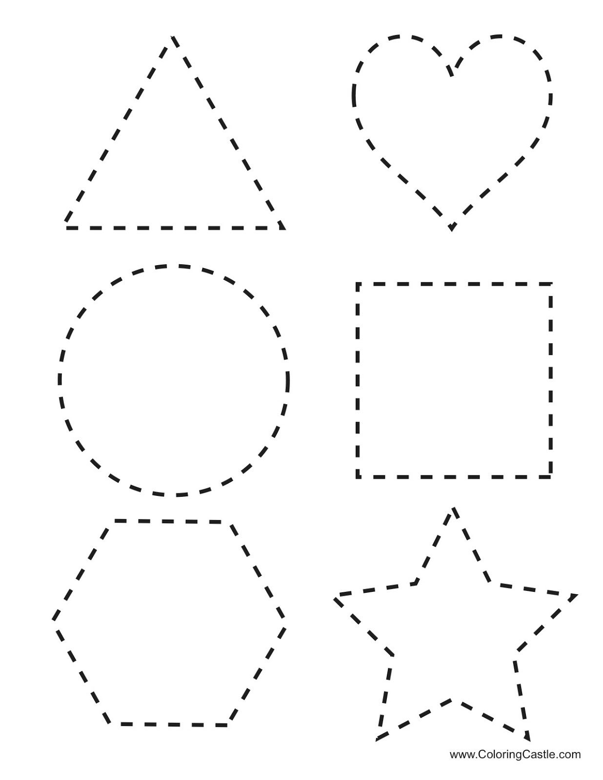 Tracing Shapes Printables | Tracing Shapes Download Here Six