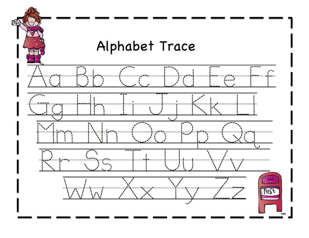 Tracing Sheets For Preschool Kids Alphabet Writing Regarding Alphabet Handwriting Worksheets For Preschool