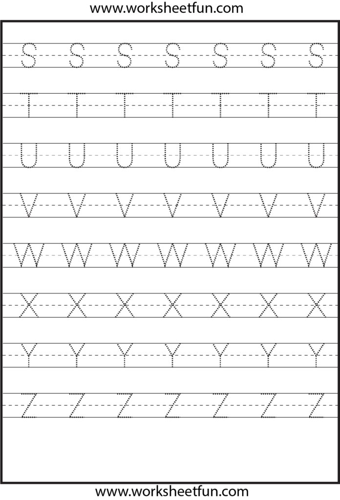 Tracing – Uppercase Letters – Capital Letters – 3 Worksheets Regarding Alphabet Tracing Uppercase