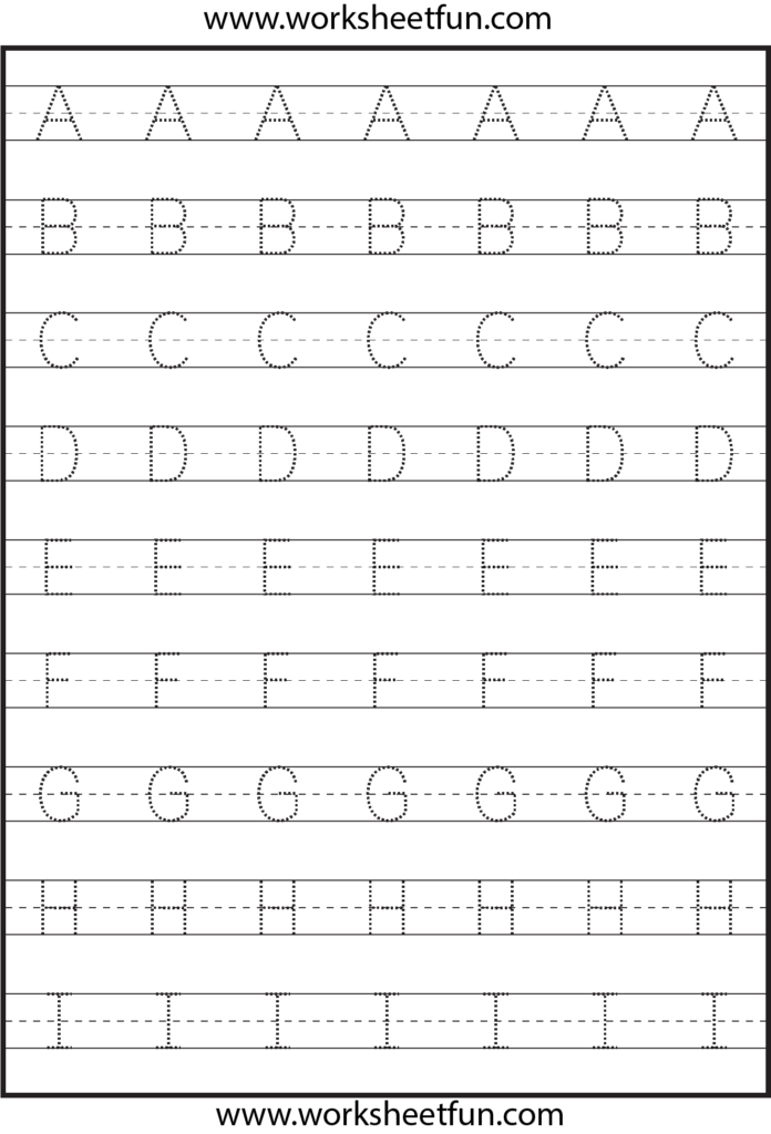 Tracing – Uppercase Letters – Capital Letters – 3 Worksheets Within Alphabet Tracing Uppercase