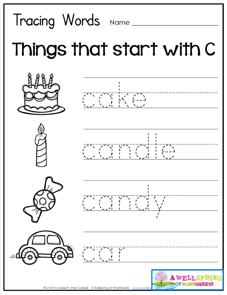 Tracing Words   Things That Start With A Z Worksheets These