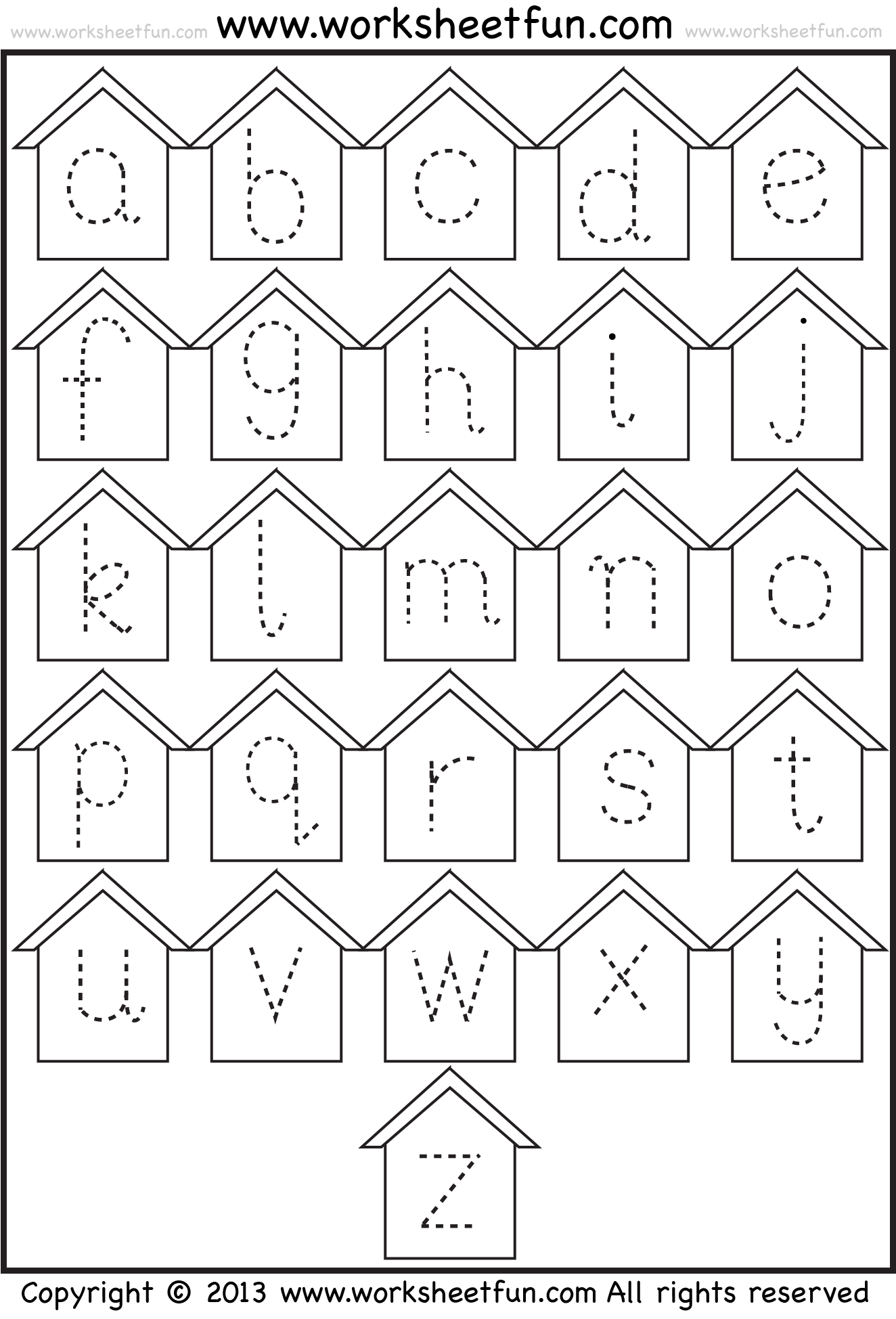 Tracing_Small_Letters_Birdhouse_1 Staggering Alphabet