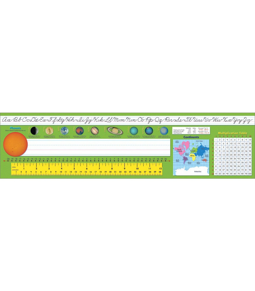 Traditional Cursive All In One Desk Plates
