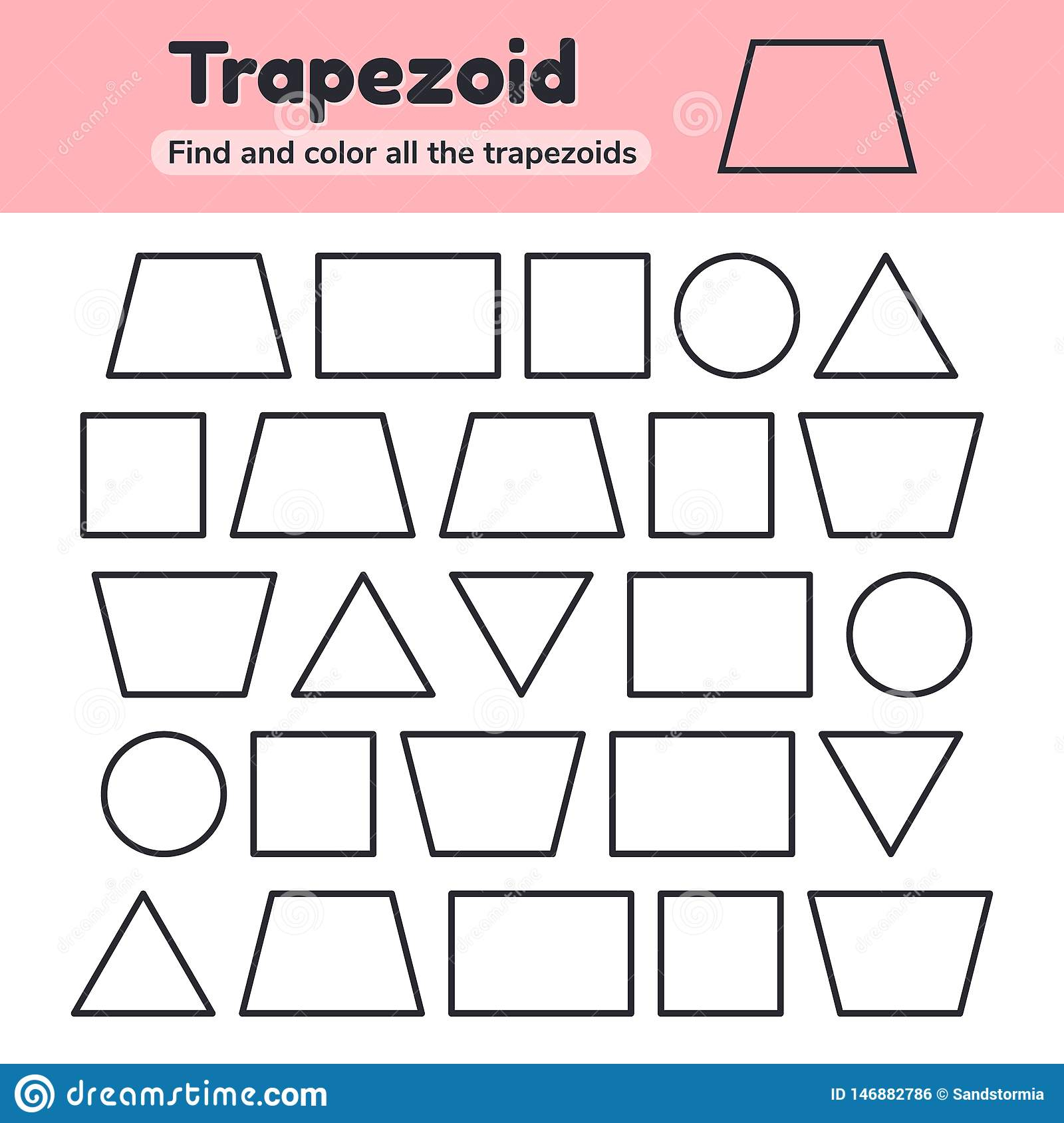 Trapezoid Worksheet Stock Illustrations – 63 Trapezoid
