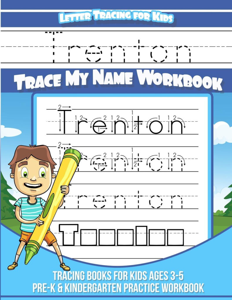 Trenton Letter Tracing For Kids Trace My Name Workbook : Tracing Books For  Kids Ages 3   5 Pre K & Kindergarten Practice Workbook   Walmart Intended For Alphabet Tracing Book Walmart