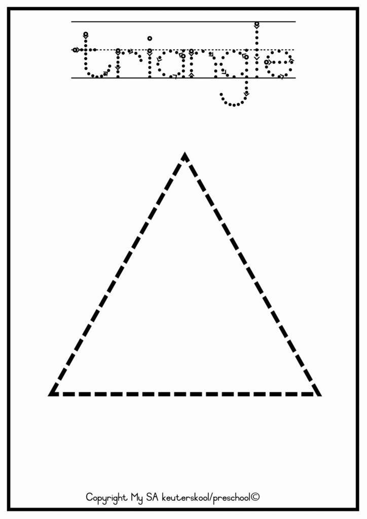 Triangle Trace Worksheet   Printable Worksheets And