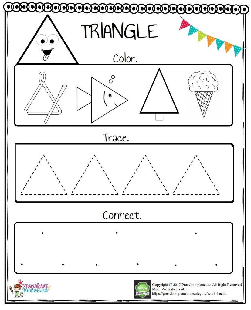 Triangle Worksheet For Preschool – Preschoolplanet