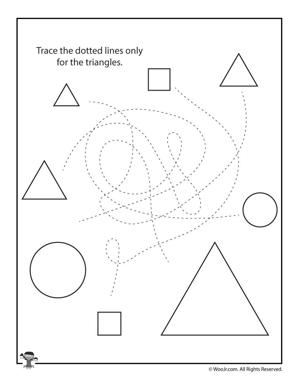 Triangles Tracing Worksheet   Woo! Jr. Kids Activities