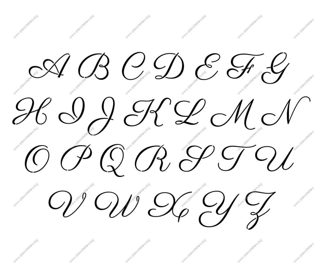 Trust Cursive Letter Stencils Printable In 2020 (With Images