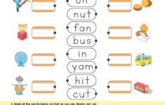 3 Letter Word Tracing Worksheets