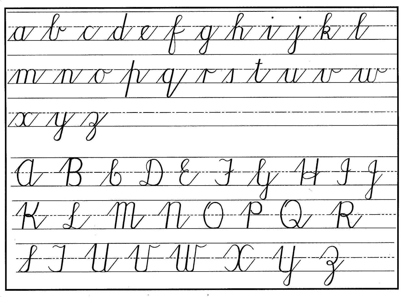 Uppercase And Lowercase Letters Learning | Teaching Cursive