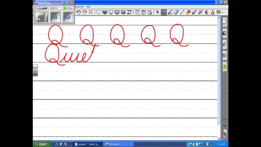 Uppercase Cursive Q