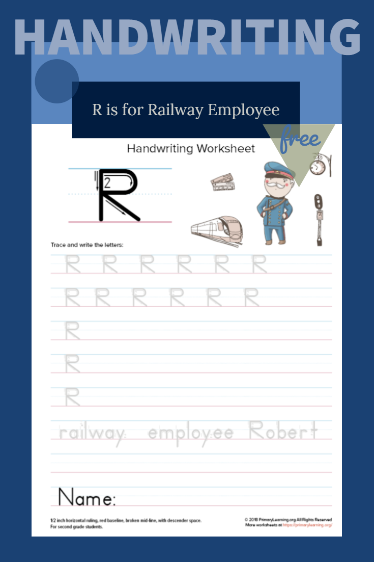Uppercase Letter R Worksheet   Handwriting Worksheets with Tracing Name Robert