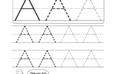 Large Alphabet Tracing Worksheets