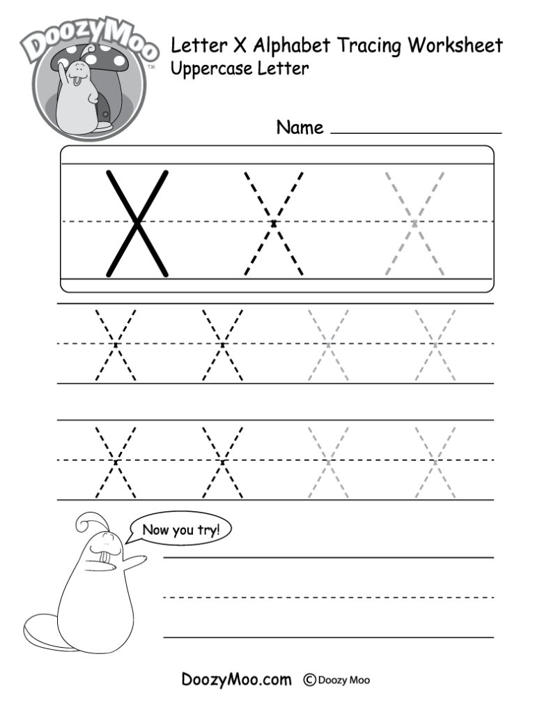 Uppercase Letter X Tracing Worksheet | Tracing Worksheets Inside Letter Tracing X