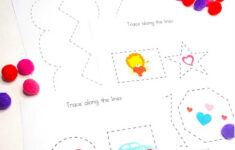 Valentine's Day Tracing Worksheets For Preschoolers