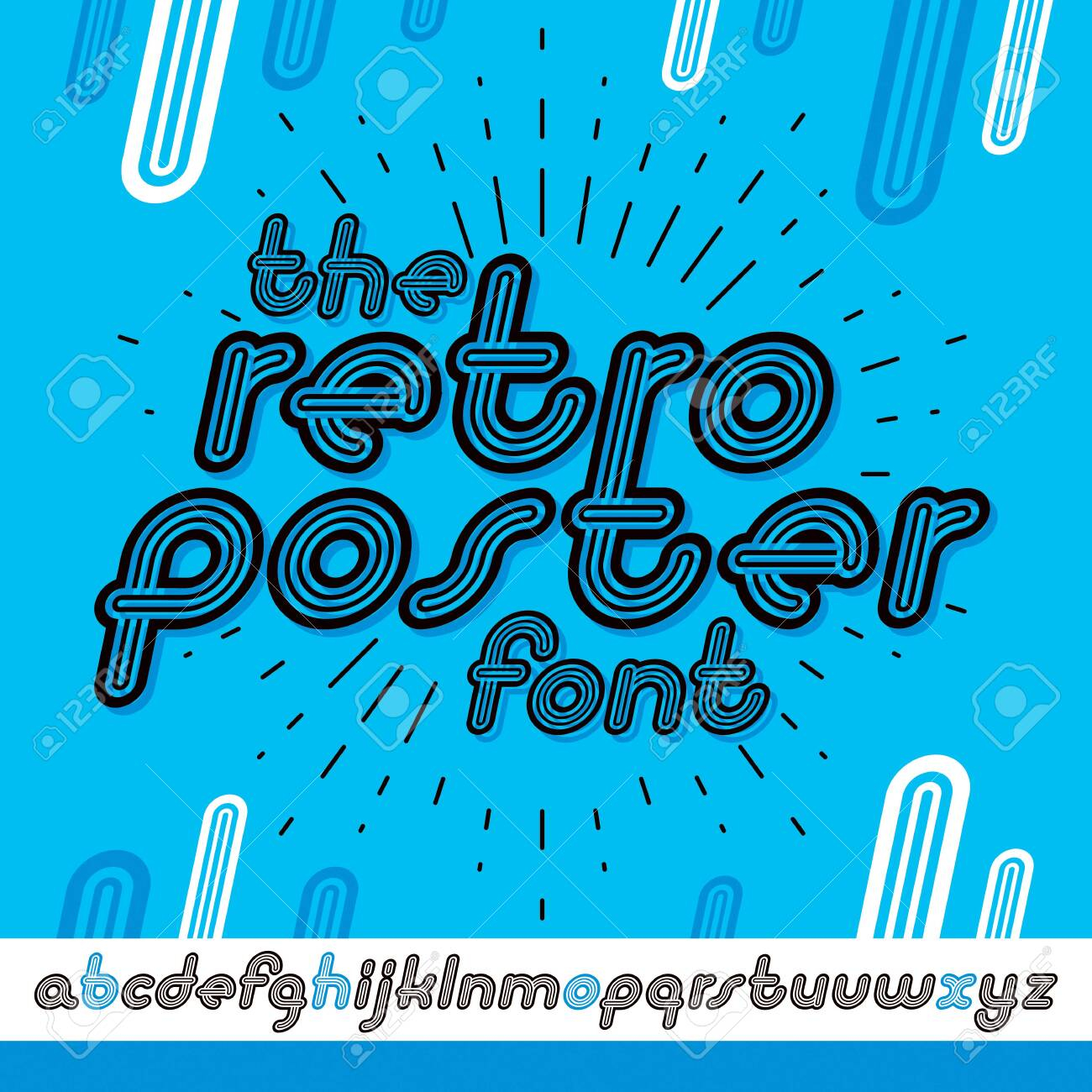 Vector Retro Lowercase English Alphabet Letters Collection. Cool..