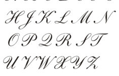 Victorian Cursive Alphabet