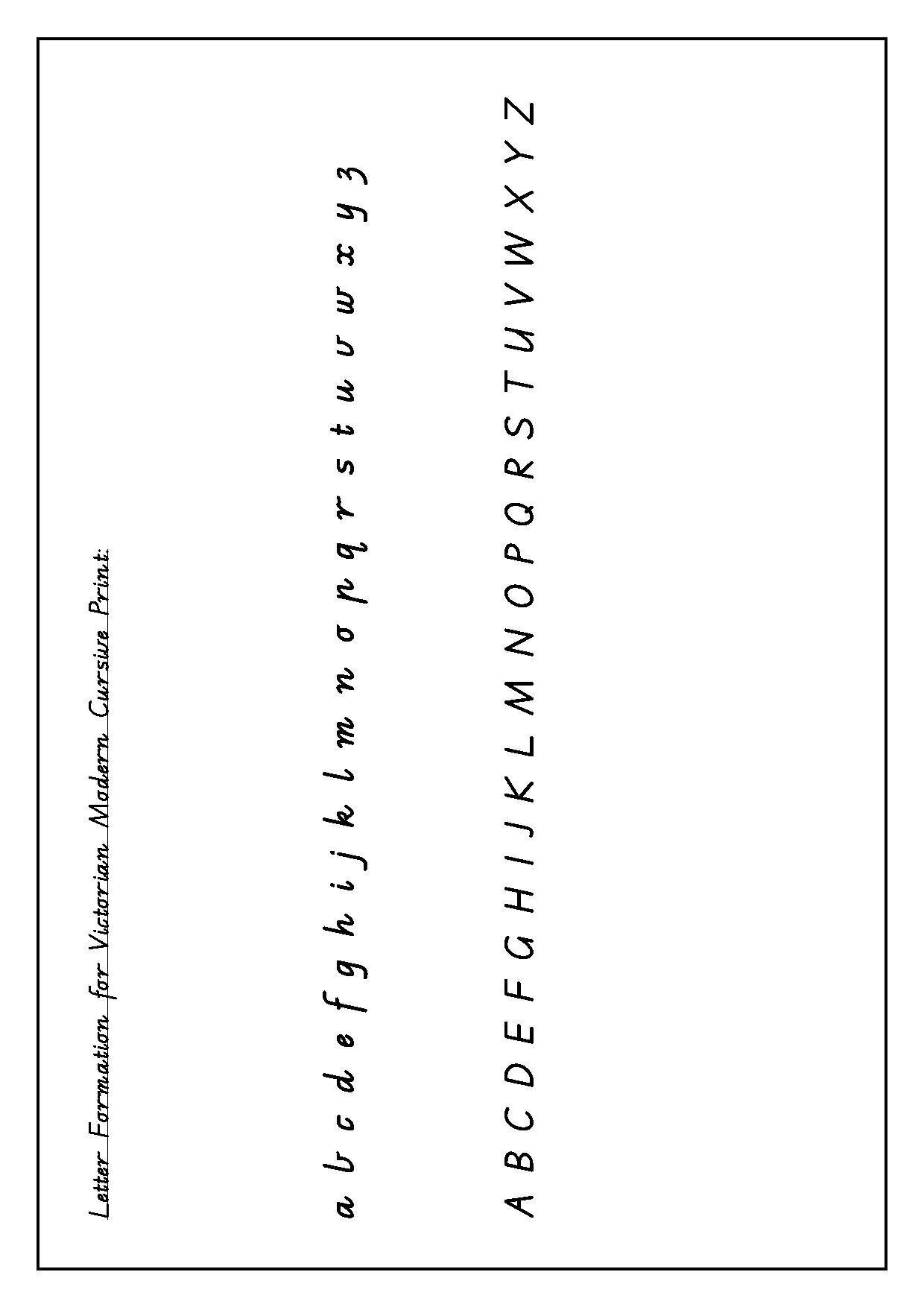 Victorian Modern Cursive Alphabet Tattoo | Cursive Alphabet