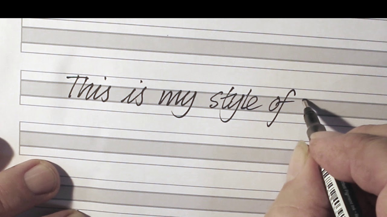Video To Accompany 'cursive Handwriting For Adults'
