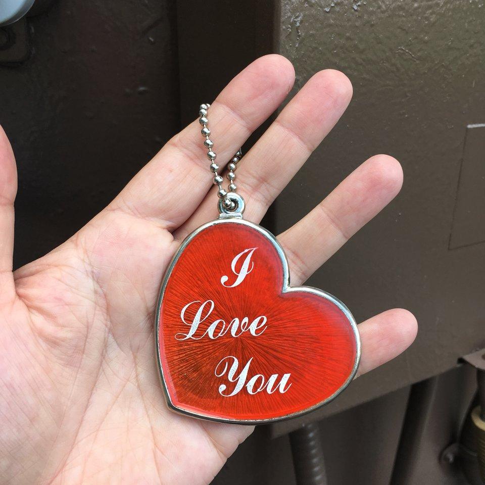 Vintage 1980S Valentines Large Heart Keychain. ❤️ - Depop