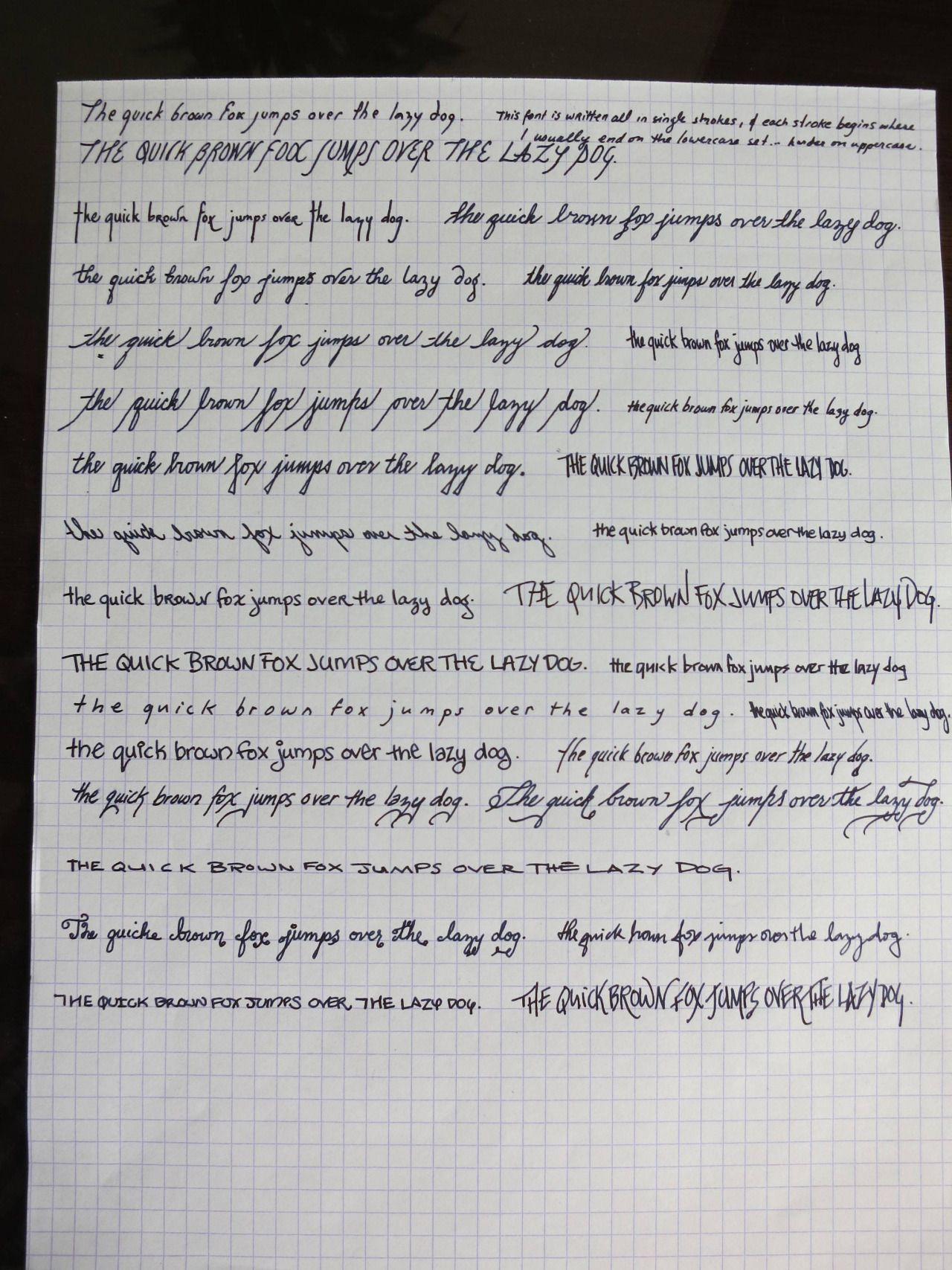 Woops! After I Posted That Last Handwriting Sample, A Few