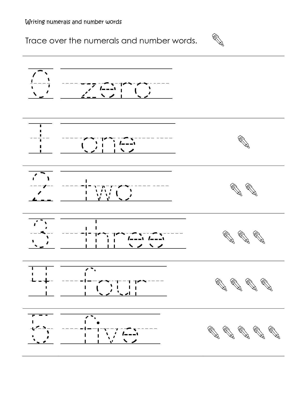 Word Tracing Worksheets For Kindergarten In 2020 (With