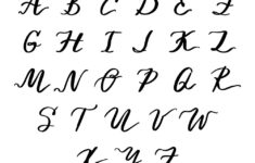 Cursive Alphabet Alphabet