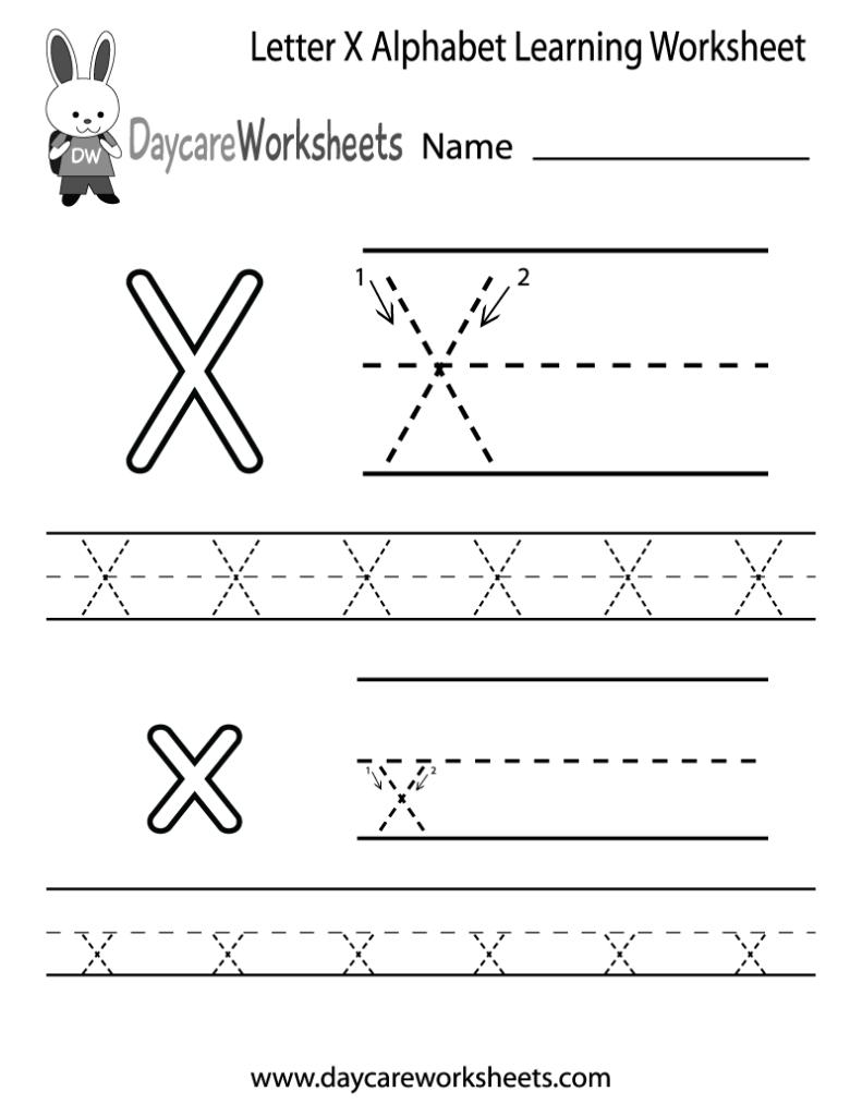 Worksheet ~ Alphabet Learning Printables Astonishing Free Inside Letter X Worksheets For Preschool