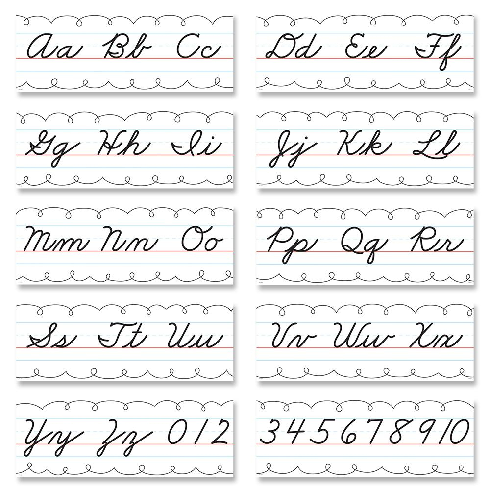 Worksheet ~ Alphabet Line Cursive Handwriting Bulletin Board